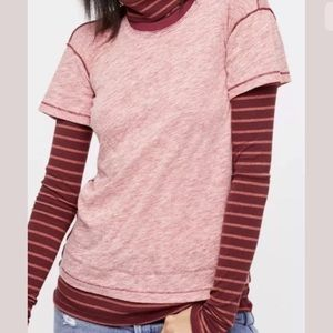 """Free People """"We The Free Piper Twofer""""  Red Combo"""